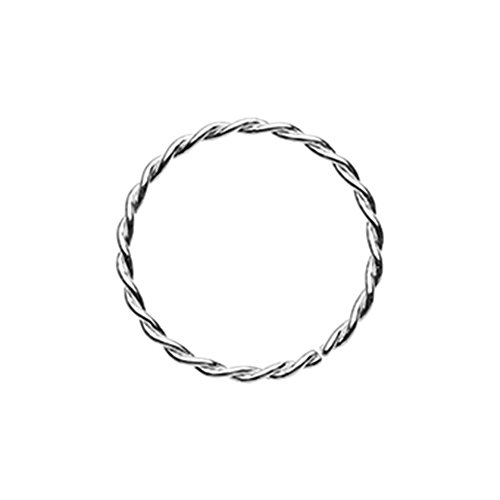 20G Inspiration Dezigns Twist Rope Steel Bandable Nose Hoop (Sold Individually) (20G, Length: 5/16