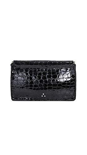 Jerome Dreyfuss Women's Clic Clac Clutch, Croco Noir, Black, One Size