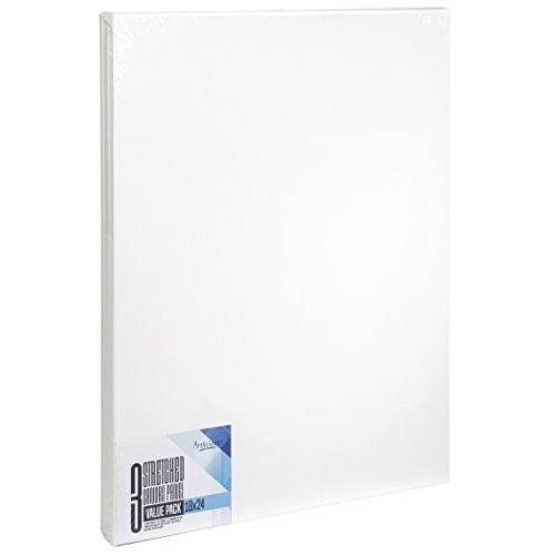 Artlicious - Super Value 3 Pack - 18x24 Pre-Stretched Cotton Canvas Panel Boards - Use with All Acrylics, Oils and Other Painting Media ...