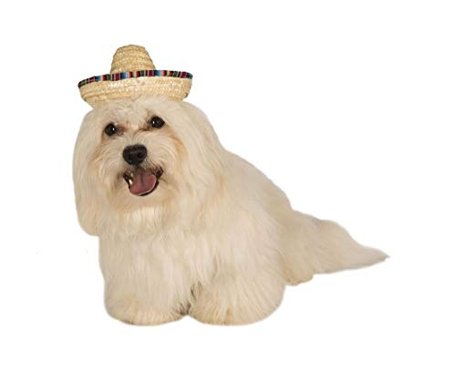 Ovedcray Costume series Straw Sombrero Pet Hat Tan ()