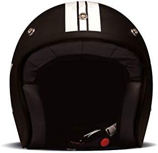 M = 56//57 DMD Vintage Star Black Jet Helm