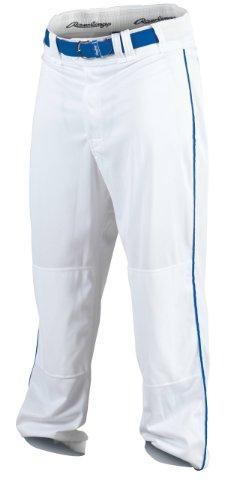 Rawlings Youth Baseball Pant (White/Royal, Large)