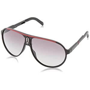 Carrera Champfolds Aviator Sunglasses,Black Red,62 mm