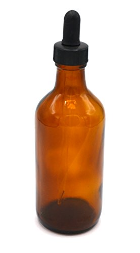 180mL Dropping Bottle with Eye Dropper - Borosilicate Glass - Round Screw Top - Amber