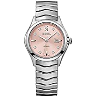 Ebel Wave Automatic Pink Galvanic Diamond Dial Women's Watch