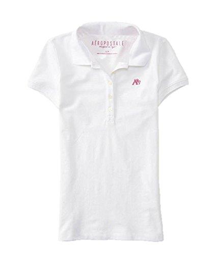 Aeropostale Womens Piqu Shirt Bleach