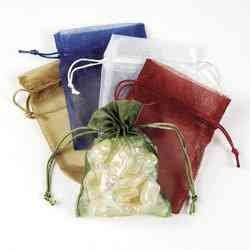 Amazon.com: MEDIUM SHEER MESH DRAWSTRING GIFT BAGS (1 DOZEN ...