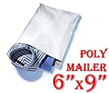 500 (Five Hundred S1 (Dimension 6'' X 9'') Poly Mailers) Tear-proof, Water-resistant and Postage-saving Lightweight Self-seal Poly Mailers/ Shipping Bags.