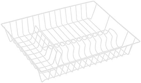 Color Blanco 43 x 34 x 7,5 cm Escurreplatos de Alambre con Revestimiento de pl/ástico MSV