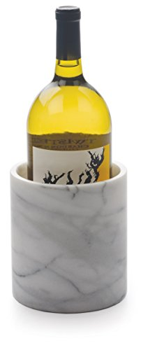 RSVP White Marble Wine Cooler and Tool Holder
