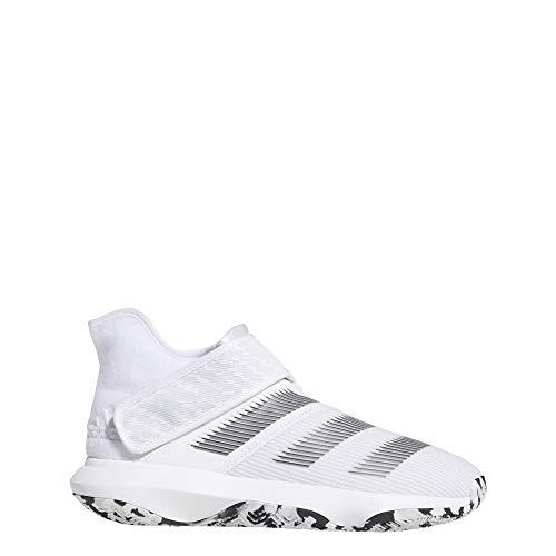 adidas Men's Harden B/E 3 Basketball Shoe, White/Black/Grey, 9.5 M US