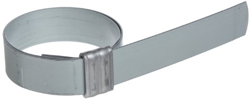 BAND-IT JS3069 Junior 5/8'' Wide x 0.030'' Thick, 1-3/4'' Diameter, Galvanized Carbon Steel Smooth I.D. Clamp (100 Per Box) by Band-It