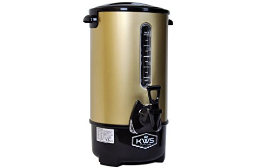 KWS WB-16 13L/55Cups Commercial Heat Insulated Water Boiler and Warmer Stainless Steel (Gold) Top Offers