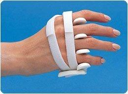 LMB Soft Core Wire-Foam Ulnar Deviation Splint, Right Size: Avg.-L Male 3&3/8''; - 3 3/4'' by Rolyn Prest