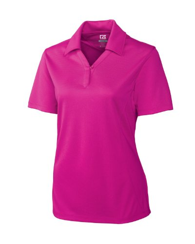 Cutter & Buck Women's Plus Size Drytec Genre Short Sleeve Polo, Ribbon Pink, 4X