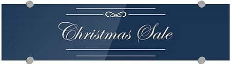 Christmas Sale 5-Pack Classic Navy Premium Brushed Aluminum Sign 24x6 CGSignLab