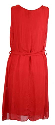 Rosso Dress Elegante Otoño Vestido Mujer Seda Rojo Bzna Verano qypctTt