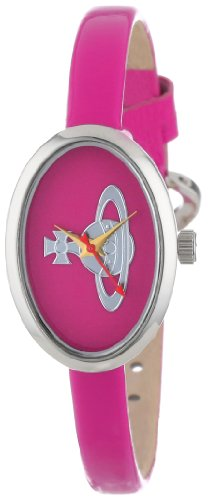Vivienne Westwood Women's VV019PK Medal Swiss Quartz Pink Leather Strap Watch