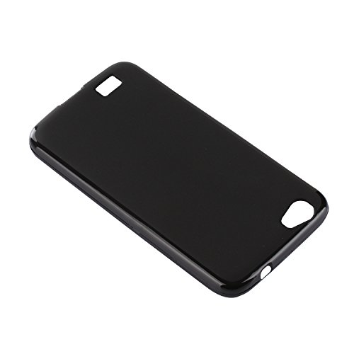 Lusee® Funda de silicona para Doogee T6 / T6 Pro 5.5 pulgada Suave Cascara TPU negro