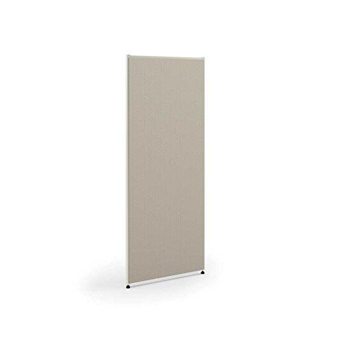 HON Verse Panel, 60'' H x 60'' W, Light Gray Finish, Gray Fabric