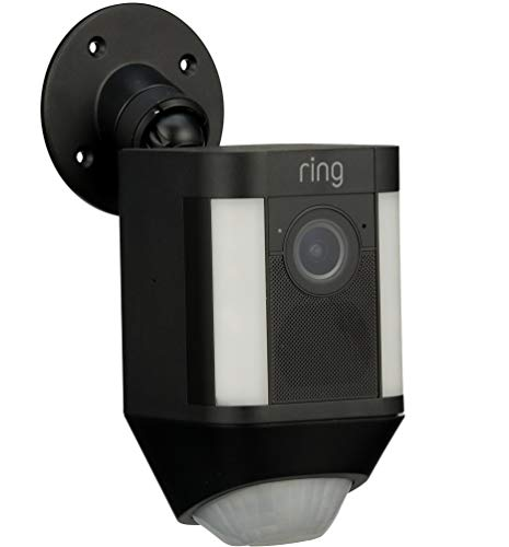 Ring Spotlight Cam Battery HD Security Camera with Built Two-Way Talk and a Siren Alarm, Black, Works with Alexa