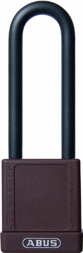 - ABUS 58032 75mm Non Conductive Lock Out Tag Out Long Shackle Anodized Aluminium Padlock - Brown