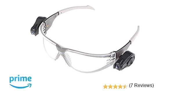 f46aa95ef4 3M LED Light Gafas de seguridad PC ocular incoloro recubrimiento AR-AE con  luces LED (1 gafa/bolsa): Amazon.es: Industria, empresas y ciencia