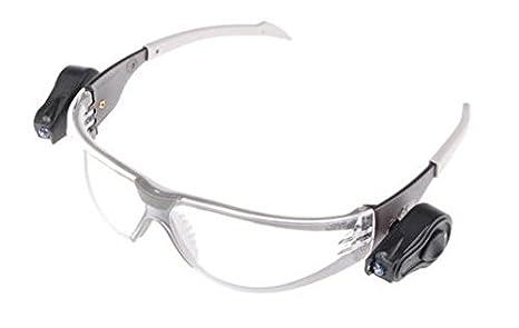 JSP ASA106-121-300 Occhiali da lavoro con lenti antinebbia e luci LED