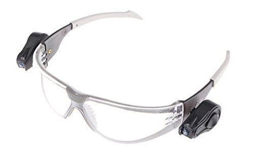 JSP ASA106-121-300 Stealth 8000 Clear Frame and Anti-Fog Lens Glasses with LED Lamp