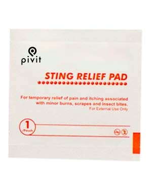 Pivit Bug Bite and Sting Relief Wipe Pads | 2 Ply Medium | Bulk Pack of 3,000 | Swab Away Stinging Burning Itching & Pain | Individually Wrapped Packets | Great for Mosquitos Insect Bites & Bee Stings