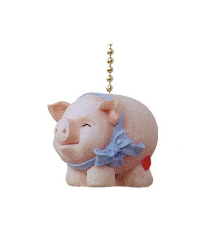 Whimsical Pig Piggy Piggie Kitchen Fan Light Pull