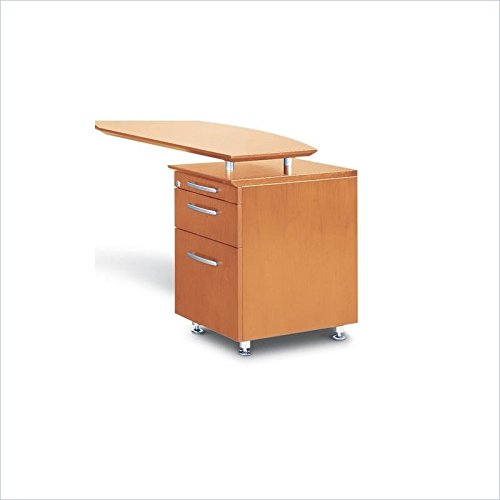 Mayline Napoli Pencil Box File Pedestal for Return in Golden Cherry