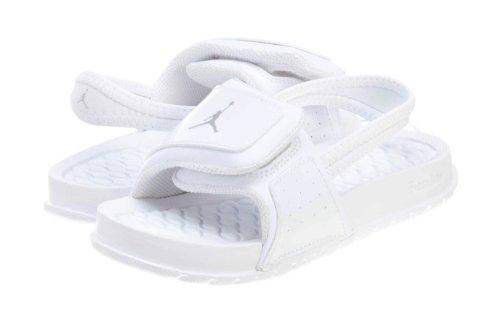 020945b896a8 Jordan Nike Toddlers Hydro 2 Sandals Slides-White Metallic Silver-9 - Buy  Online in UAE.