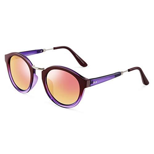 Lunettes Conduite de C Cadre Mode Femme Nouvelles soleil à Des Couleur Soleil polarisées rétro Sport de Rond de lunettes Miroir A 5F6qpRxY