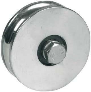 Rueda de puerta corredera rueda de la rueda 120 mm Rueda de acero redondo rueda R forma de U: Amazon.es: Coche y moto