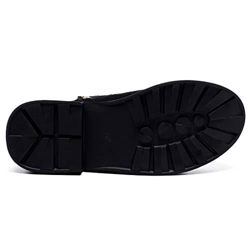 Bottes Cheville Jushee 3 sur Femme CM Nubuck 38 Bloc Noir Juaccid Tirez q7X6Bwz