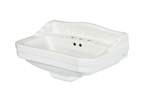 Review Pegasus F-1920-4W Series 1920 Pedestal Lavatory Basin, White