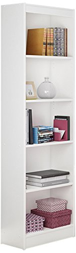 South Shore Jazz 5-Tier Open Narrow Bookcase, 72-Inch, (72 Bookcase)