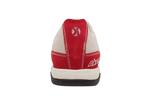 AKRON Suede Fashion Shoes, Vibram Sole + EVA, Multiplus White/Red 41