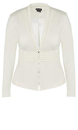 Designer Plus Size JKT CORSET WAIST COL - Ivory - 24 / XXL | City Chic