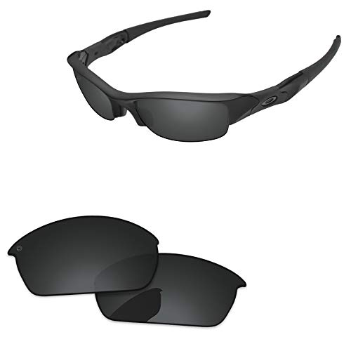 (PapaViva Lenses Replacement for Oakley Flak Jacket Pro+ Black Grey Polarized)