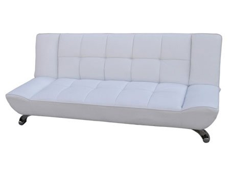 Superieur LPD Vogue White Sofa Bed Faux Leather Finish: Amazon.co.uk: Kitchen U0026 Home
