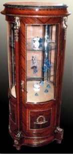 Barock Vitrine Rokoko Antik Stil Schrank Louis XV MoVi0572