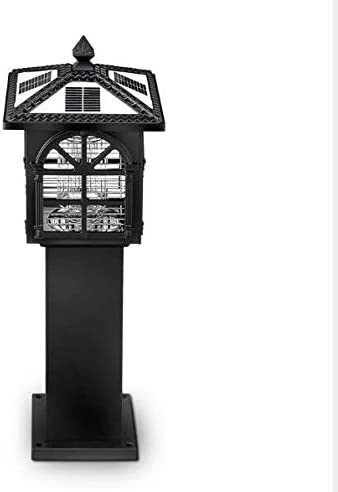 Qpzz Portátil Repelente Solar Luz eléctrico Mosca Asesino Exterior Impermeable casa artefacto eléctrico lámpara Repelente de Mosquitos jardín Asesino,highblackandwhite: Amazon.es: Deportes y aire libre