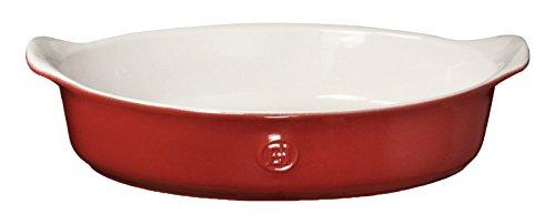 (Emile Henry 369029 HR Ceramic Individual oval baker, Rouge)
