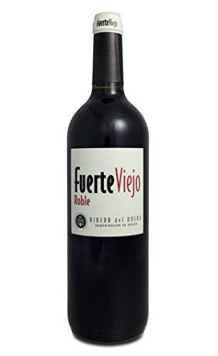 Fuerte Viejo Roble 2014 - spanischer Rotwein - Tinto - trocken - D.O. Ribera del Duero - 100% Tempranillo - (1x 0.75l)