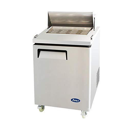 Atosa USA MSF8305 Stainless Steel Mega Top Sandwich/Salad Prep Table 27-Inch One Door Refrigerator - Door Sandwich 1