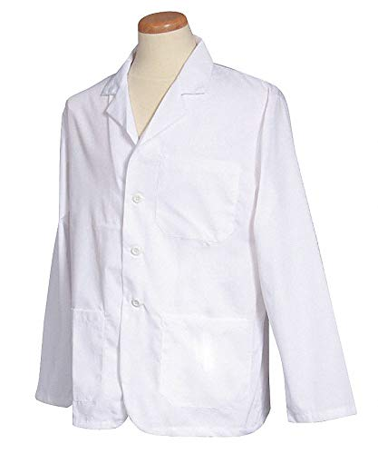 Lab Jacket, 2XL, White, 28-1/2 In. L
