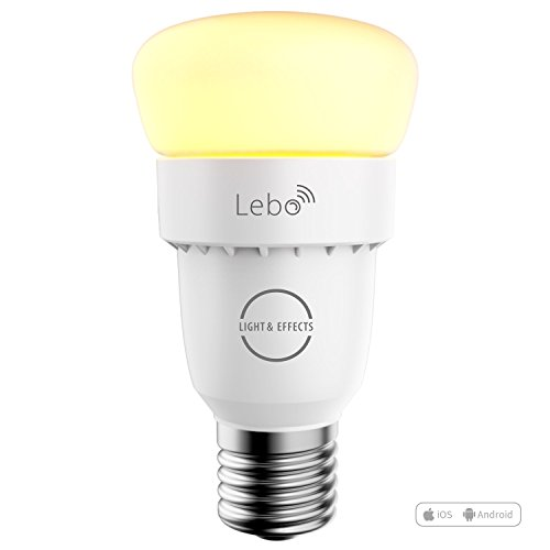 LIGHT & EFFECTS Lebo Smart Led Bulb with Wifi Range Extender,Smartphone Controlled Dimmable Light