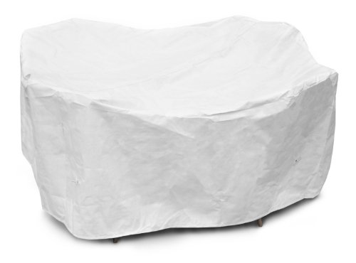KoverRoos DuPont Tyvek 21262 80-Inch Round Table High Back Dining Set Cover, 114-Inch Diameter by 36-Inch Height, White by KOVERROOS